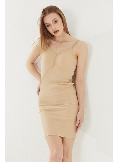 Reyon REYON Kadın Kaşkorse Askılı Mini Elbise Taş Taş